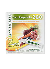 NUTRILITE Fruits & Vegetables 2GO Twist Tubes (20 tubes)