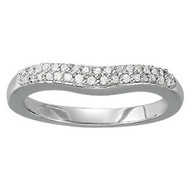 .16ct Diamond Pave Wedding Band set in 14k White Gold