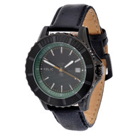 Black Genuine Leather watch from Relic