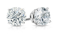 1CT TW Round Diamond Stud Earrings in 14K Gold (H-SI2/3)