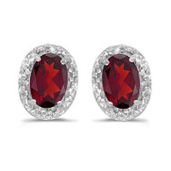 14k White Gold Ruby and Diamond Earrings  (1.22ct t.w)