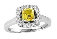 14k White Gold Yellow Sapphire Engagement Ring (1.32ct t.w)
