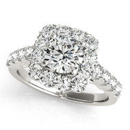 14K White Gold 1/2CT Round Diamond Engagement Ring(1.30ct t.w)