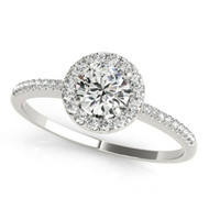 Round Diamond Halo Engagement Semi-Mount Ring(.24ct)