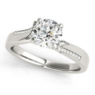 14k White Gold Multi-Row Diamond Engagement Semi-Mount (.13ctw)
