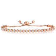 """One-Size-Fits-All"" Adjustable Diamond Bracelet in 14k Rose Gold (1.50ctw - 4.00ctw)"