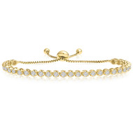 """One-Size-Fits-All"" Adjustable Diamond Bracelet in 14k Yellow Gold (1.50ctw - 4.00ctw)"