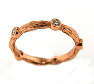 14k Rose Gold Ring with Diamonds (.15ct t.w)