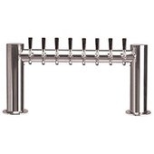 "Metropolis ""H"" - 8 Faucets - Polished Stainless Steel - Glycol Cooled"