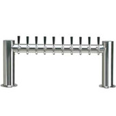 "Metropolis ""H"" - 10 Faucets - Polished Stainless Steel - Glycol Cooled"
