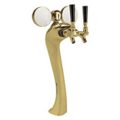 Illuminated Sexy - 2 Faucet - Gold Finish - Glycol Cooled