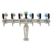 Illuminated Brigitte - 7 Faucets - Chrome Finish - Glycol Cooled