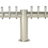 "Metropolis ""T"" - 6 Faucets - Polished Stainless Steel - Glycol Cooled"