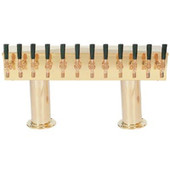 Double Pedestal - 12 Faucet - PVD Brass - Glycol Cooled