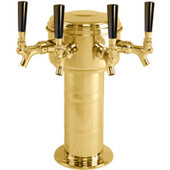 Mini Mushroom - 4 Faucet - Polished Brass - Air Cooled