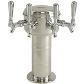 Mini Mushroom - 4 Faucet - Polished Chrome - Glycol Cooled