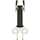 "3"" Column - 2 Faucets - Black ABS Plastic - Air Cooled"