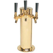 "4"" Column - 3 Faucets - PVD Brass - Air Cooled"