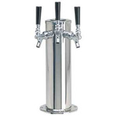 "4"" Column - 3 Faucets - Polished Stainless Steel - Glycol Cooled"