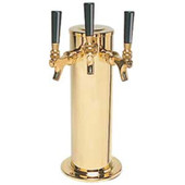 "4"" Column - 3 Faucets - PVD Brass - Glycol Cooled"
