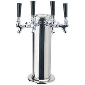 "4"" Column - 4 Faucets - Polished Stainless Steel - Air Cooled"