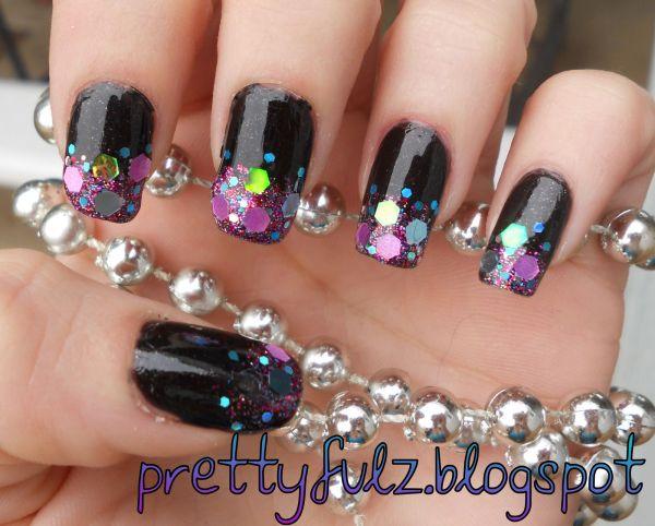 Glitter Flakes Nail Art