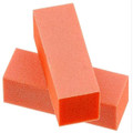 100/180 Orange Nail Buffer Block