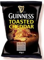 Guinness Toasted Cheddar Potato Chips 5.3oz (150g) (Pack of 10)