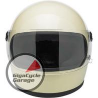 Biltwell Gringo S Fullface Helmet DOT Approved Gloss Vintage White