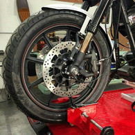 Corsair Inverted Front End by Gigacycle Garage - Option II - The Road Block for FXR & Dyna (Essential+Brake Kit)