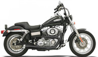 Bassani Road Rage 2 into 1 Exhaust for Dyna models 91-15 Black