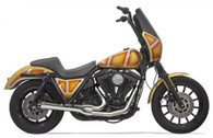 Bassani 2 into 1 Road Rage Exhaust System FXR Chrome Upswept