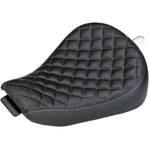 BILTWELL SPORTY-8 SEAT - BLACK DIAMOND 2010-2016 Sportster