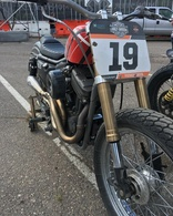 LeRoy Tracker Inverted Front End by Gigacycle Garage - Turn key kit for Hooligan Sportster