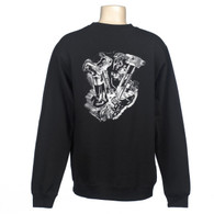 Knucklehead Motor Crew Sweatshirt - Knuckle Engine