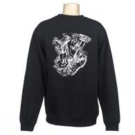 Knucklehead Motor Crew Sweatshirt - Knuckle Engine
