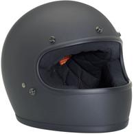 Biltwell Gringo Retro Fullface Helmet DOT Approved Flat Black