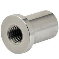 """1/2"""" - 13 Threaded Handlebar Riser Bung - 304 Stainless Steel 2-pack"""