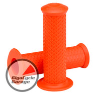 "Lowbrow Customs Fish Scale Grips - 1"" - Orange"