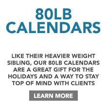 80lb Calendar Printing