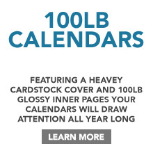 100lb Calendar Printing