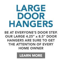 Large Door Hanger Printing
