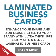 Silk/Matte & Gloss Laminated Business Card Printing