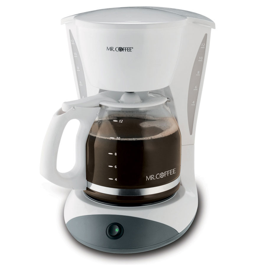 Mr. Coffee DWA12-NP 12 Cup Coffee Maker with 2 Hour Auto Off and Pause N Serve, White