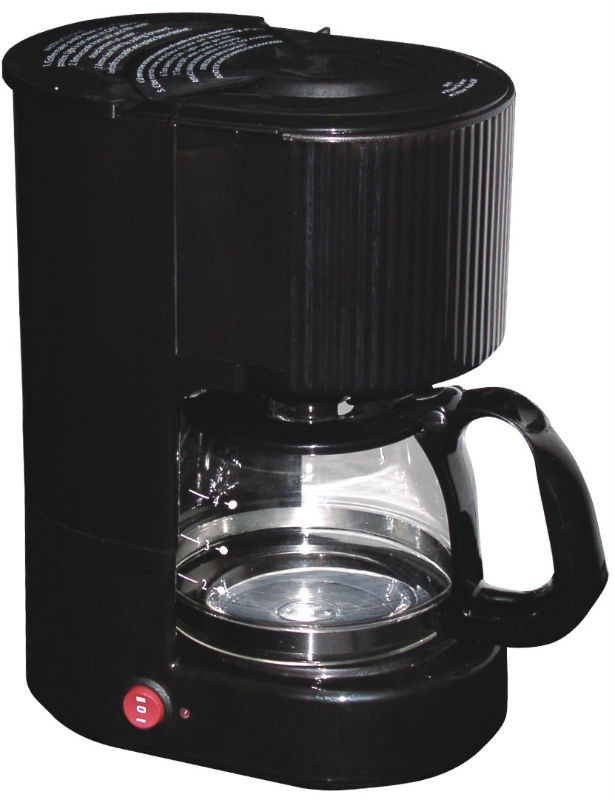 4 Cup Coffee Maker With Glass Carafe : WallMountDryer.com 4-cup Coffee Maker Black with Glass Carafe