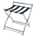 Luxury Metal Luggage Rack, Stainless Steel, Black Straps, Price Per Each, 3 Per Case