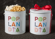 Happy Holidays 1 Gallon Popcorn Tin