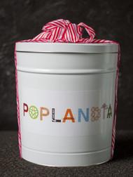 Happy Holidays 3 Gallon Popcorn Tin