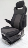 Prime Seating 600L side view in black and grey leather