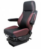 Knoedler Harrier Truck Seat in Black and Red Synthetic Leather